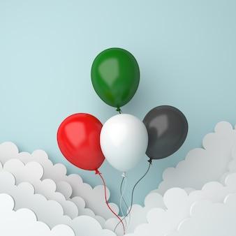 С днем независимости объединенных арабских эмиратов или украшение кувейта с воздушным шаром