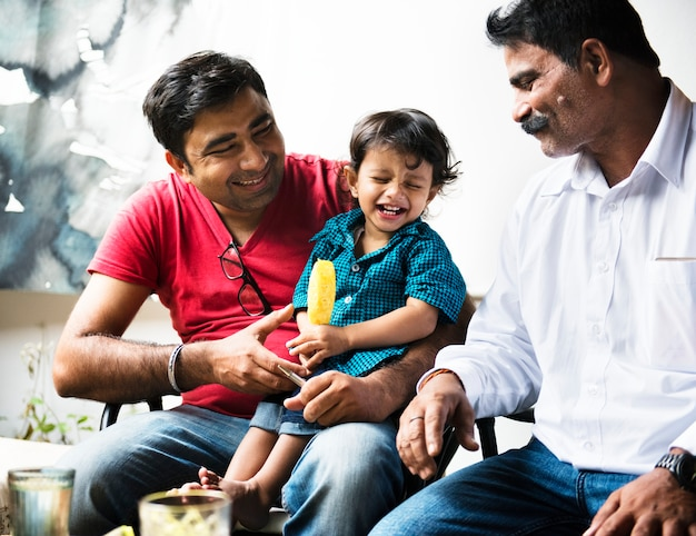 A happy indian family