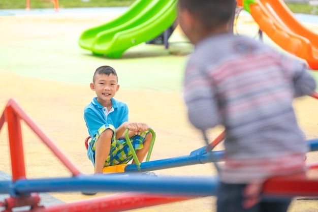 Happy kinds playing in playground