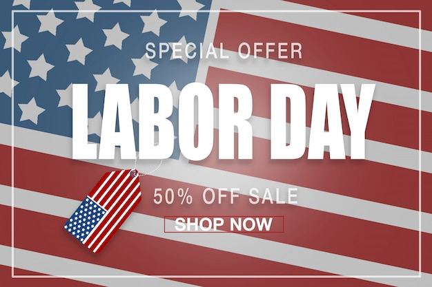 Happy labor day advertisement