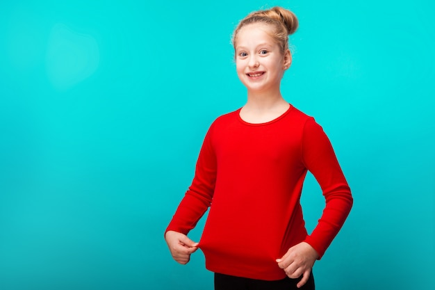 Happy little fair-haired girl