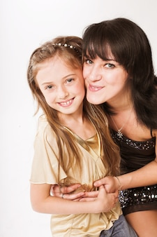 Счастливая мать и ее маленькая дочь