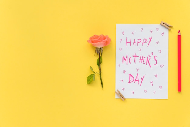 Happy mother`s day postcard