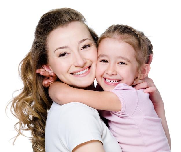 Felice madre con figlia