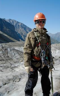 Happy mountaineer