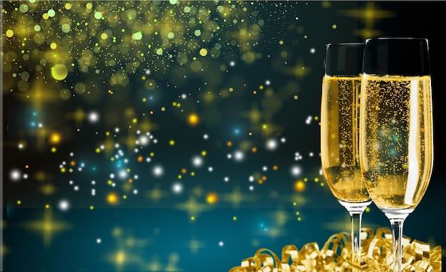 2019年明けましておめでとうございます!クリスマスと年末年始の背景、冬の季節。