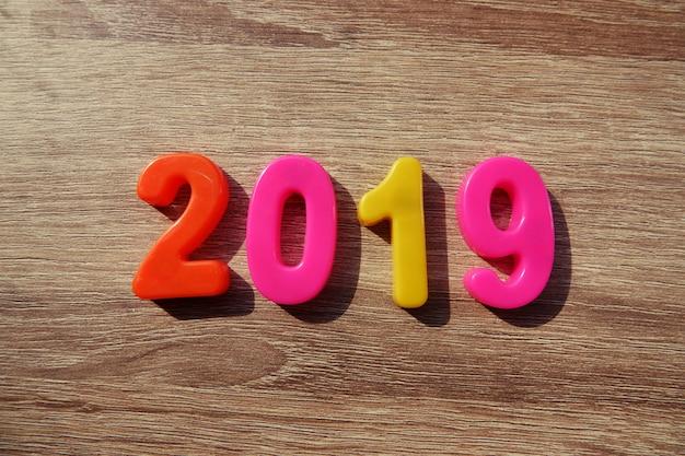 新年あけましておめでとうございます2019、磁気アルファベットの手紙と数字 - プラスチック教育玩具