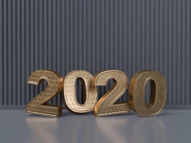 Happy new year 2020 concept - 3d rendered