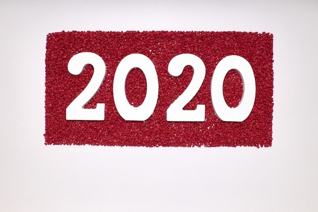 Happy new year 2020. symbol from number 2020