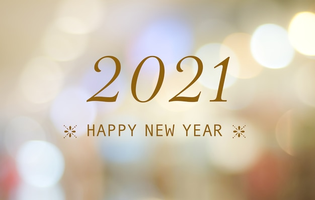 Happy new year 2021 greeting card