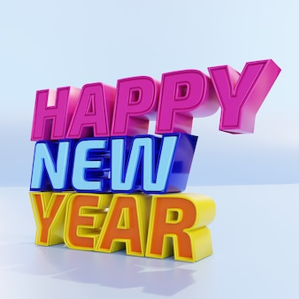 Happy new year bold letters high quality render