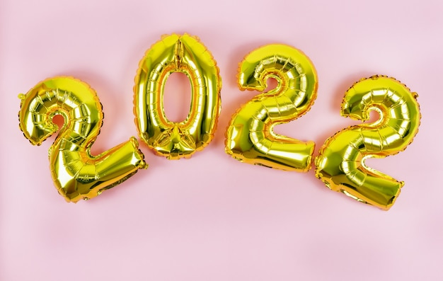 Happy new year. numbers 2022. copy space.