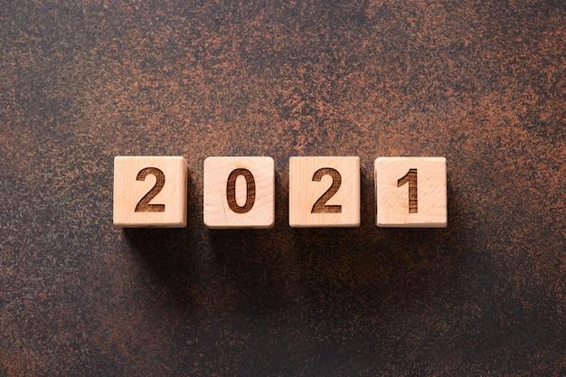 С новым годом набор номеров деревянных кубиков блока