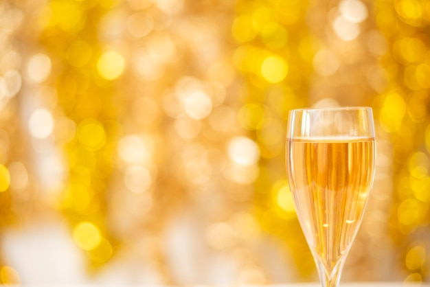 Happy new years wall, gold bokeh