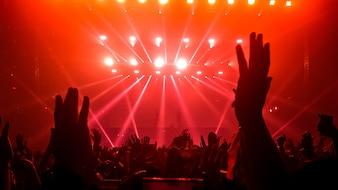 Happy People Dance in Nightclub Party Concert