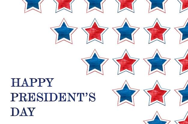 행복한 대통령의 날. 휴일 축하 비문. 근접 촬영, 사람 없음. 가족, 친척, 친구 및 동료를 축하합니다