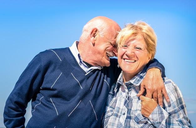Happy senior couple in love during retirement