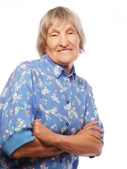 Счастливая старшая женщина