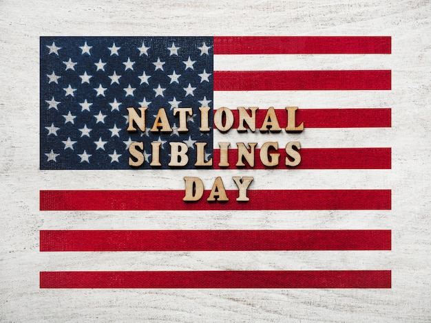 Happy sibling day. beautiful card. close up