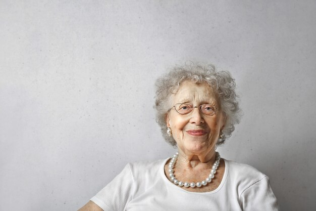 Happy smiling senior lady