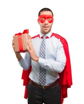 ハッピースーパービジネスマン、贈り物