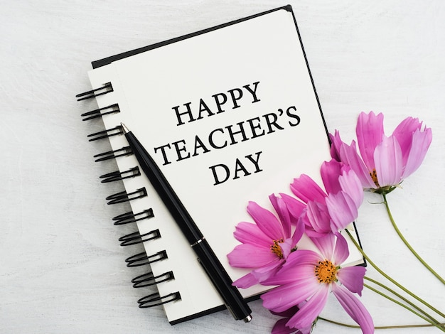 С днем учителя. красивая открытка. крупным планом