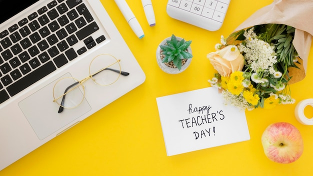 Happy teacher's day concept