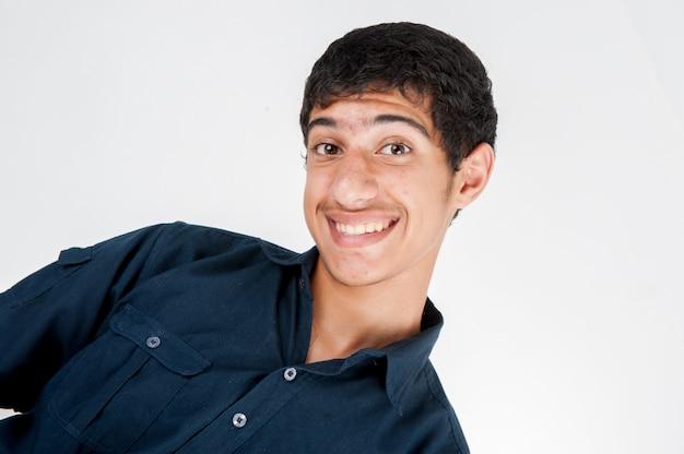 Happy teenage boy