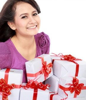 Happy teenager bring some gift