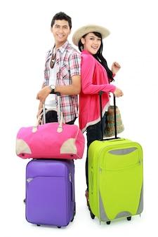 Счастливый подросток собирается в отпуск