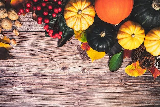 カボチャとナッツで幸せな感謝祭の日