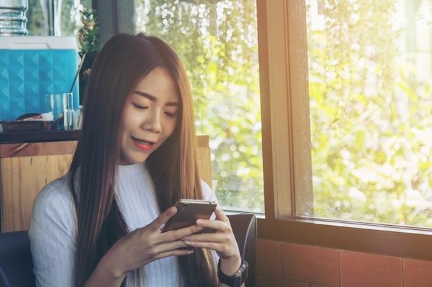 Happy use smart phone
