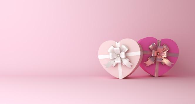 с днем святого валентина декоративный подиум с копией пространства для подарочной коробки в форме сердца