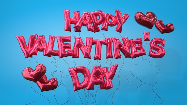 Happy valentines day helium balloon letters transparent layer