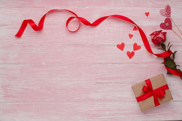 Happy valentines day love celebration in a rustic style isolated.