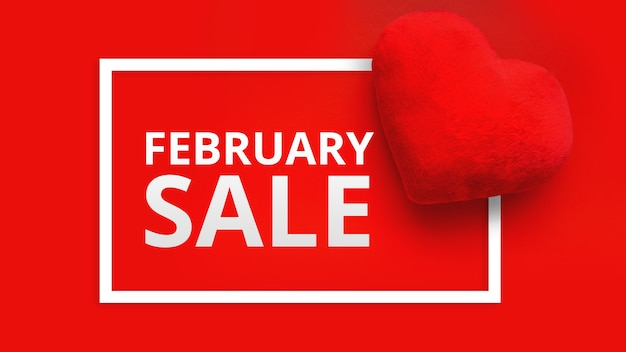 С днем святого валентина распродажа промо веб-баннер
