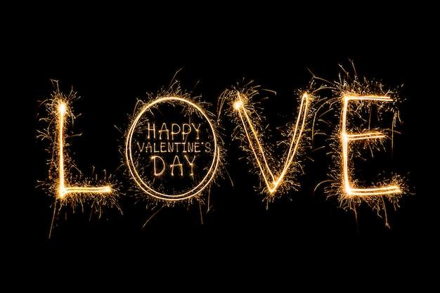 С днем святого валентина - свечи зажигания фейерверков