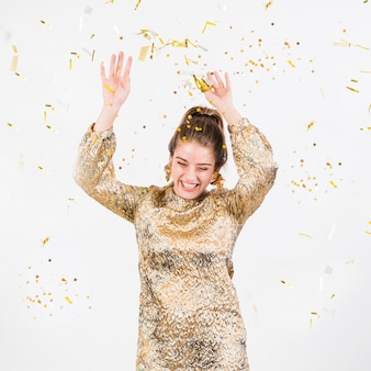 Happy woman having fun at party