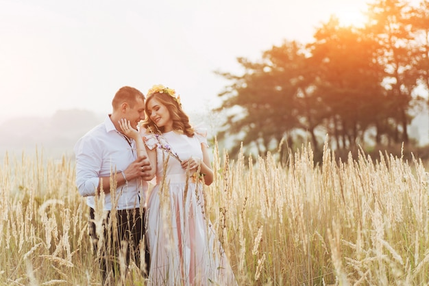 Happy woman with her husband