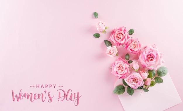 Счастливый женский день концепция