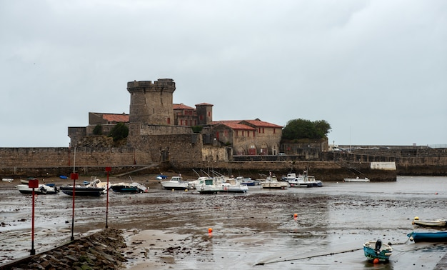 Harbor and fort de socoa in france