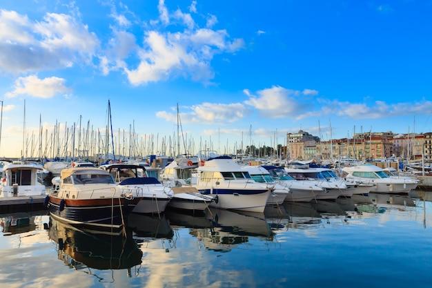 Harbor and marina at cannes