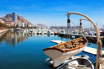 harbour with yachts in Alicante