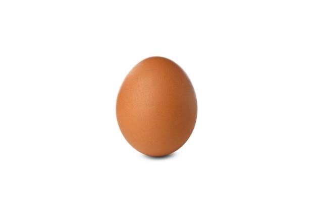 Hard boiled egg isolated on white