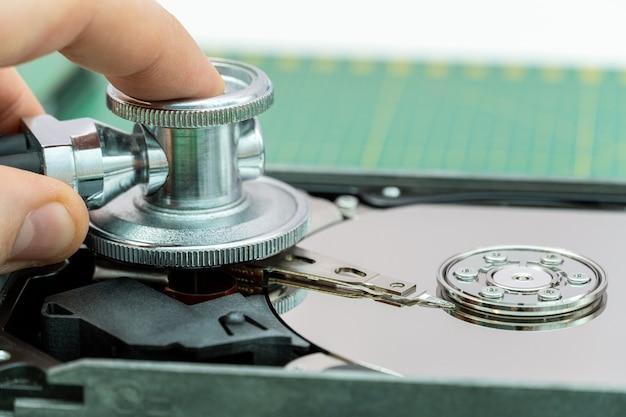청진기로 하드 드라이브 진단 복구 검색 손실 데이터