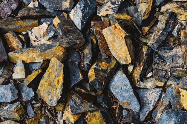 Hard sharp colorful solid rocks