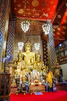 ワットプラタットharipunchai woramahawihan、ランプーン、タイで黄金の塔