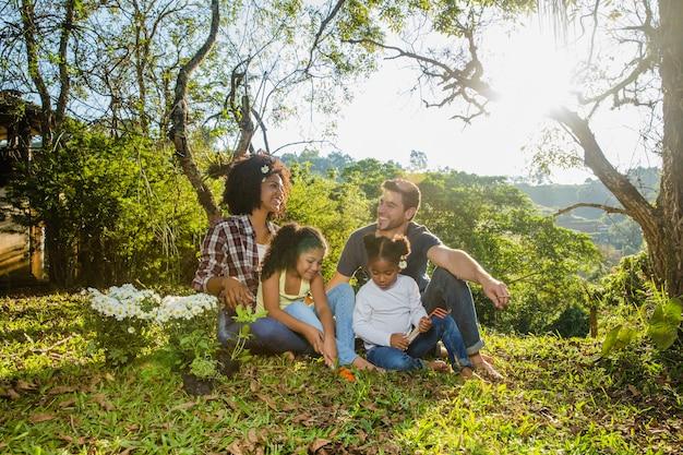 Harmonic family scene
