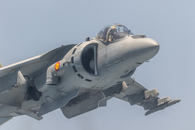 Harrier plus aeroplane