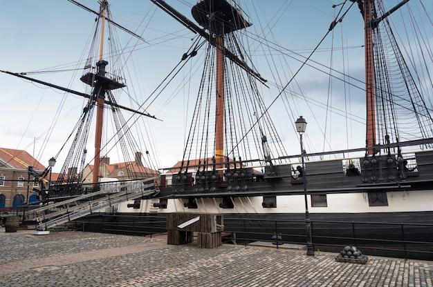 ハートリプール、イギリス-2021年7月27日:イギリス北部にある王立海軍国立博物館。大きな王室の軍艦